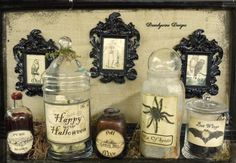Vintage Halloween Apothecary Label Set