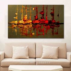Cheap Painting  Calligraphy, Buy Quality Home  Garden Directly from China Suppliers:Canvas oil painting caudros decoracion Acrylic boat sailing abstract painting wall art picture for living room home decor quadro Enjoy ✓Free Shipping Worldwide! ✓Limited Time Sale✓Easy Return. Living Room Pictures, Wall Art Pictures, Cheap Paintings, Rooms Home Decor, Oil Painting On Canvas, Sailing, Hand Painted, Art Prints, Free Shipping