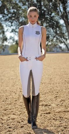 Show Clothes - Ideal Show Tank with Silver Bit by Goode Rider horse riding clothes