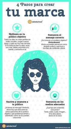 4 pasos para crear tu Marca #infografias #infographic