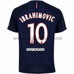 Neues Paris Saint Germain Psg 2016-17 Fussball Trikot Ibrahimovic 10 Kurzarm Heimtrikot Shop
