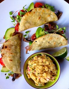 vegan: portobello tacos...
