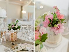 vintage wedding decor, something a little different!