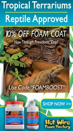 Tropical Terrariums, Foam Factory, Reptile Room, Reptile Enclosure, Vivarium, Pet Safe, Bearded Dragon, Aquariums, Exterior
