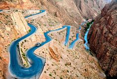 Atlas Mountains Morocco Gorge | Dades Gorge or Gorges du Dadès, Morocco. A gorge carved by the Dades ...