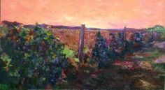 "Saatchi Art Artist Safarova Sabina; Painting, ""Vineyards"" #art"