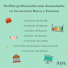 ¿cuáles son los perfiles profesionales más demandados en  Banca y Finanzas? Analista de deuda o de banca son algunos de ellos. #Profesión #Banca #Finanzas #PerfilProfesional