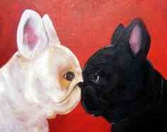 "French Bulldog Art Print/ ""Attitudinal ""/ by Original Mike Holzer. $13.50, via Etsy."