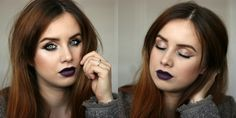 black vampy lipstick makeup Vampy Lipstick, Make Up, Black, Black People, Makeup, Beauty Makeup, Bronzer Makeup