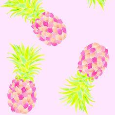 pink pineapple fabric by erinanne on Spoonflower - custom fabric