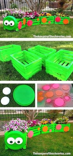 You will love this Wooden Train Garden Planter Made With Crates and it's an easy DIY you'll love to try. Check out all the ideas now and watch the video.  #Training&Fitness