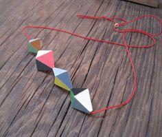Click to enlarge image. Artist: Katy Hackney: Host, Triangle Block Necklace