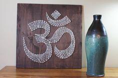 String Art Template, DIY String Art, Om Meditation Design, 16 x 16 Home Decor String Art Pattern