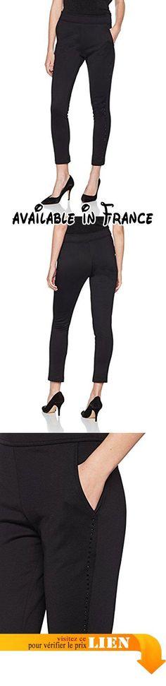 B0733C1R92 : Escada SE Apparel Tink Pantalon Femme Schwarz (Black A001) W38.