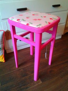 Pink Cherry Kitchen Stool