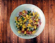 Ensalada de mango y pipas de calabaza