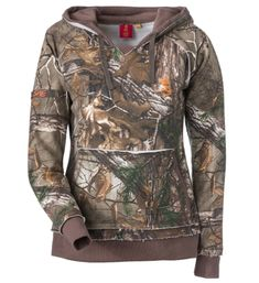 Camo stuff for Women | SHE Outdoor Vintage Camo Hoodie for Ladies