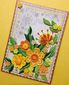 Quilling Card. Greeting Cards Handmade. Quilling Art. Fancy