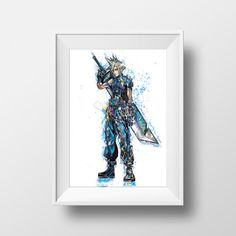 Watercolor Painting  Final Fantasy  Cloud by RightClickSaveAs