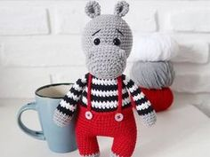 Crochet hippo amigurumi pattern pattern #amigurumi #amigurumipattern #crochettoy