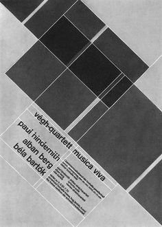 The grid system created by Josef Müller-Brockman as the basic layout format for the finished poster.