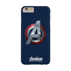 Captain America Themed Avengers Logo Barely There Iphone 6 Plus Case ($47) ❤ liked on Polyvore featuring accessories, tech accessories, phone cases and marvel