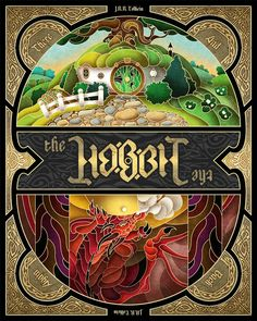 Alternative movie poster for The Hobbit An Unexpected Journey by Wes Talbott