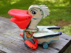 Vintage Toy  Big Bill  Fisher Price Pelican by Idugitup on Etsy