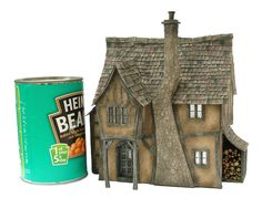 Pumpkin Cottage: 1:48th dolls house kit by Petite Properties - Shown constructed & decorated - www.petite-properties.com