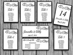 Wedding Table Number Template Diy Travel Bug Number Cards