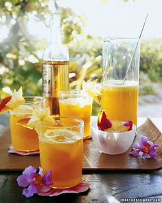 Pineapple and Mango Rum Cocktails - Martha Stewart Recipes
