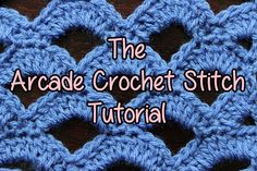 [Video Tutorial] Learn A New Crochet Stitch: Arcade Stitch - http://www.dailycrochet.com/video-tutorial-learn-a-new-crochet-stitch-arcade-stitch/