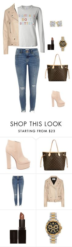 MONDAY!!! by birthdaygirlworld on Polyvore featuring Acne Studios, River Island, Steve Madden, Louis Vuitton, Versace and Laura Mercier