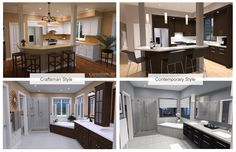 3D Renderings Of Two Different Interior Styles Applied To The Same Kitchen  And Bath Layout · CHIEF ARCHITECTKitchen ...