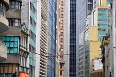 Crowded cityscape of Sao Paolo