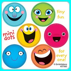 Smiley Face Stickers - 48 Dots - 8 Sheets - Reward Charts Favours Teachers SMILE