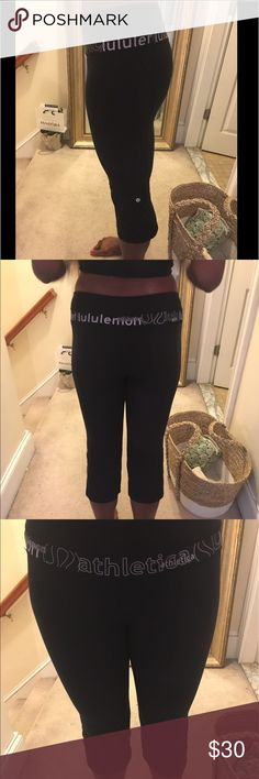 RARE Lululemon cropped tights Rate tights. Great condition. lululemon athletica Pants Track Pants & Joggers