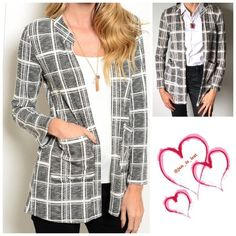 "❄️️Sale❄️ ""Alex"" Patterned Pocket Jacket This is a great open jacket from office to out at night or just as an any day wear.  I'm in love!! It's light weight yet not under made with lack of material.  96% polyester and 4% spandex.  It is true fit to size..  Oh did I mention it has a pocket!! ❗️Please don't purchase this listing let me know what size and I will make you a listing❗️ Jackets & Coats"