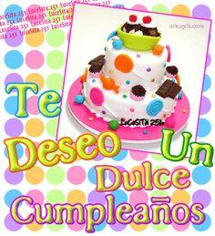 Te deseo un dulce cumpleaños