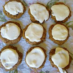 Frosted Pumpkin Spice Cookies - large cookies with a delicious cream cheese frosting
