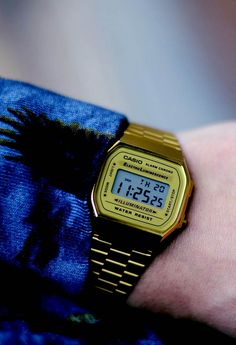 212ded2e3 97 melhores imagens de Casio Watch Vintage Gold | Man style, Digital ...