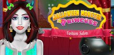 Check your in this and give her delightful look for Free Halloween Games, Halloween Party, Girl Makeover, Halloween Celebration, Ronald Mcdonald, Salons, Princess, Check, Fashion