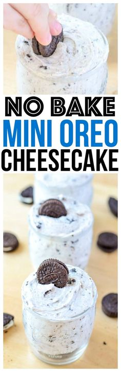 quick and easy no bake oreo cheesecake easy dessert recipe one of our favorite cheesecake recipes and no bake oreo desserts for a crowd via @CourtneysSweets