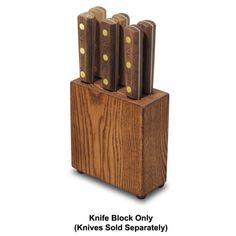 Dexter Russell #6 Traditional 6-Slot Wood Steak Knife Block