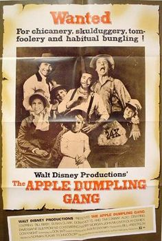 The Apple Dumpling Gang Disney Movie Poster