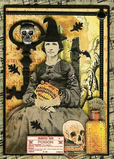 Witch - ATC Artist trading card by Kris Dickinson