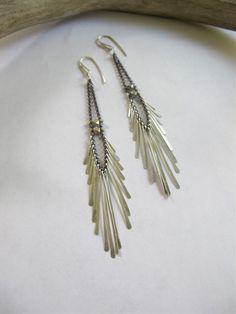 Silver Icarus earrings