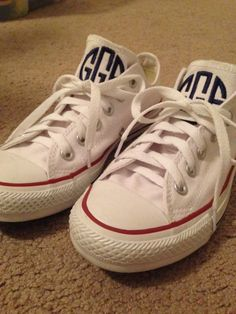 431d312bbf0b A New Twist on a Classic Look  Monogrammed Converses