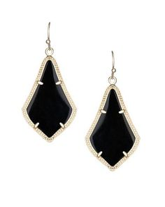 Alex Earrings in Black - Kendra Scott Jewelry.