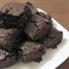 Dairy-free, eggless, gluten free chocolate fudge brownies